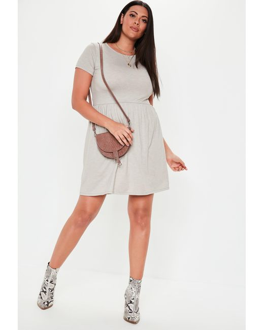 c3970f4c8ae15 ... Missguided - Plus Size Gray Skater Dress - Lyst ...