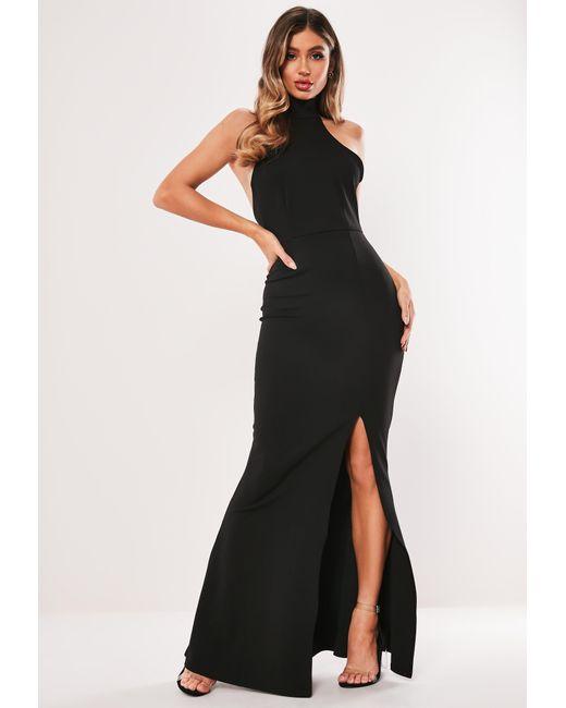 Missguided High Neck Maxi Dress Black