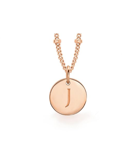Missoma | Metallic Rose Gold 'j' Initial Necklace | Lyst
