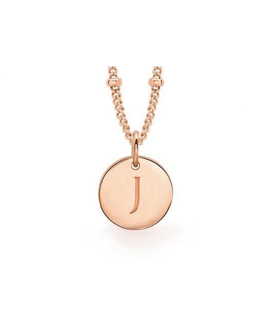 Missoma - Metallic Rose Gold 'j' Initial Necklace - Lyst