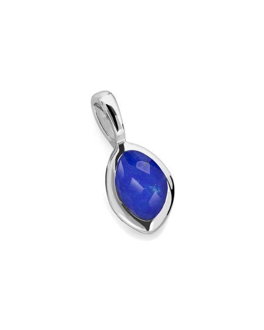 Missoma | Blue Silver September Lapis Charm | Lyst