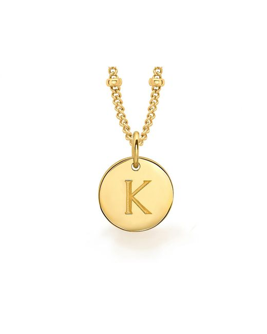 Missoma - Metallic Gold K Initial Necklace - Lyst