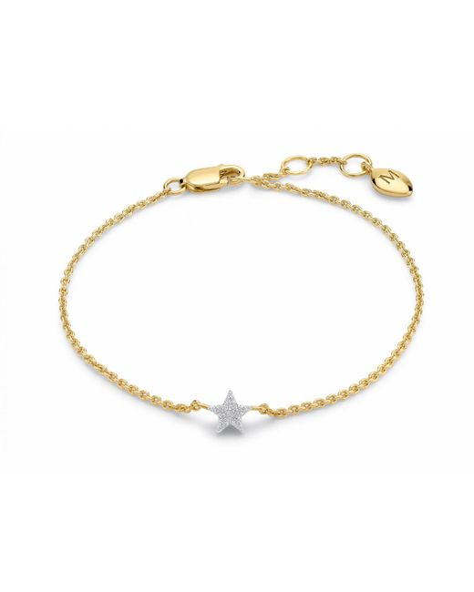 Missoma - Metallic Pave Star Bracelet - Lyst