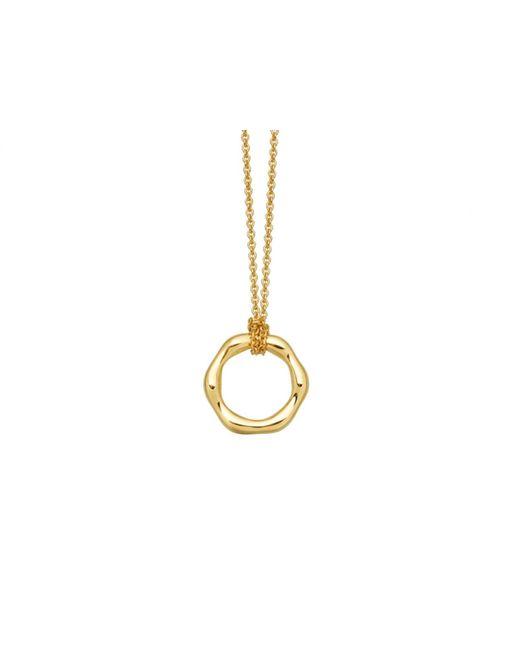 Missoma - Metallic Gold Mini Molten Necklace On Plain Chain - Lyst