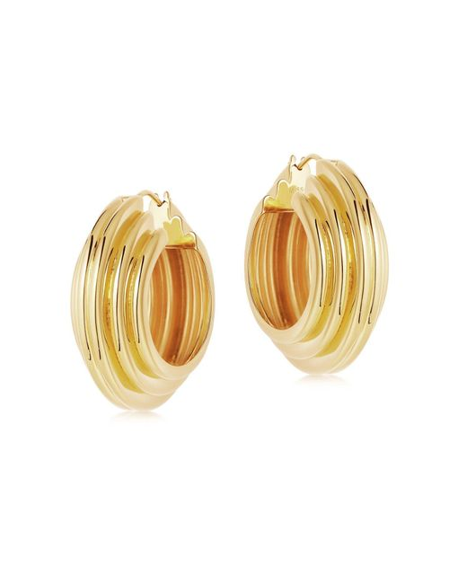 Missoma Multicolor Lucy Williams Gold Large Chunky Ridge Hoops