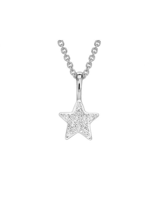 Missoma - Metallic Silver Pave Star Charm Necklace - Lyst
