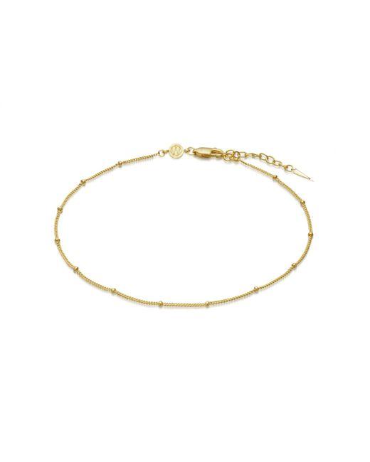 Missoma Metallic Gold Bobble Chain Anklet
