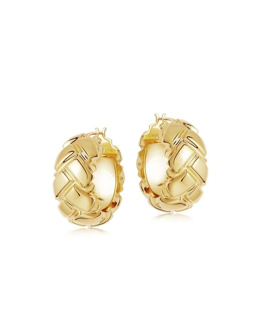 Missoma Multicolor Lucy Williams Gold Chunky Waffle Hoops