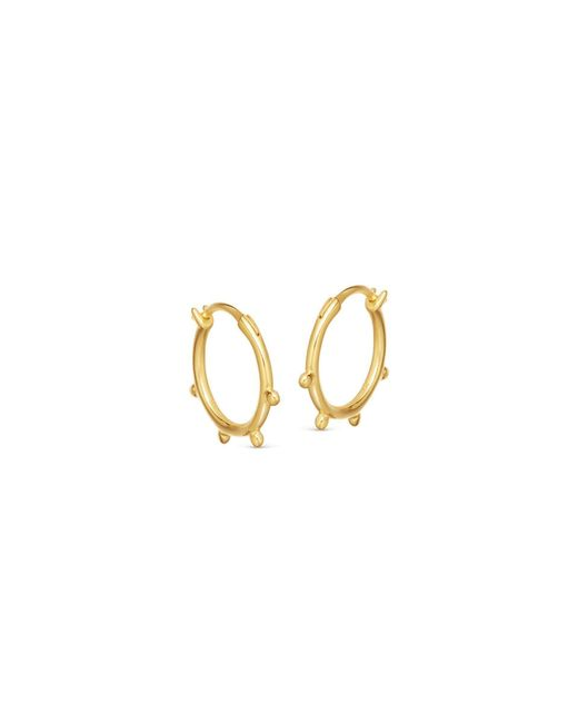 Missoma Metallic Lucy Williams X Tiny Orb Hinged Hoops