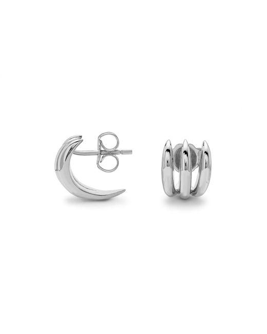 Missoma   Metallic Silver Claw Studs   Lyst