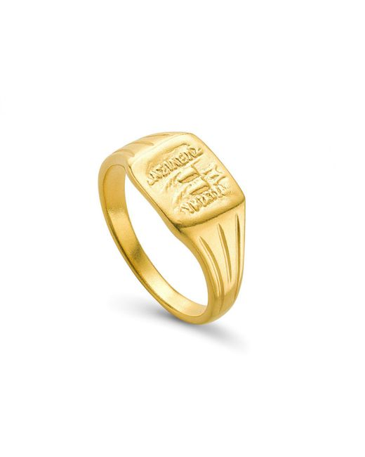 Missoma - Metallic Lucy Williams X Square Coin Signet Ring - Lyst