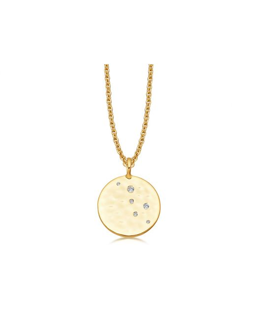 Missoma | Metallic Gold Pave Hammered Disc Necklace | Lyst