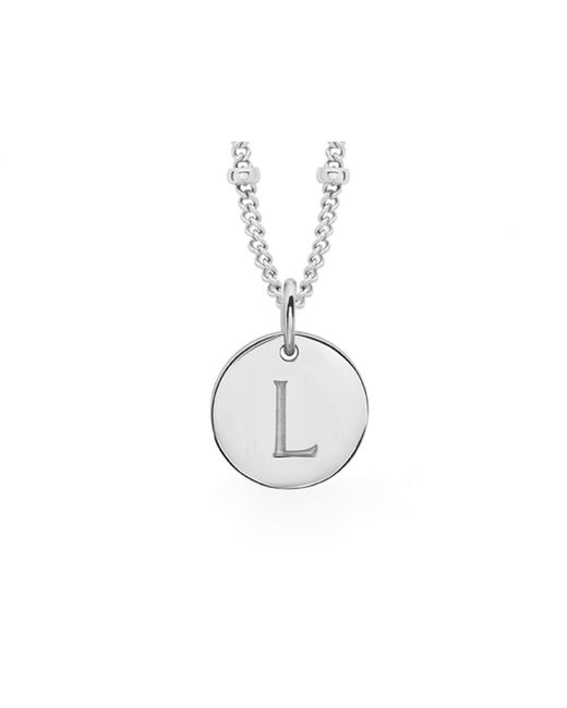 Missoma - Metallic Ladies Silver Initial L Pendant With Beaded Chain - Lyst