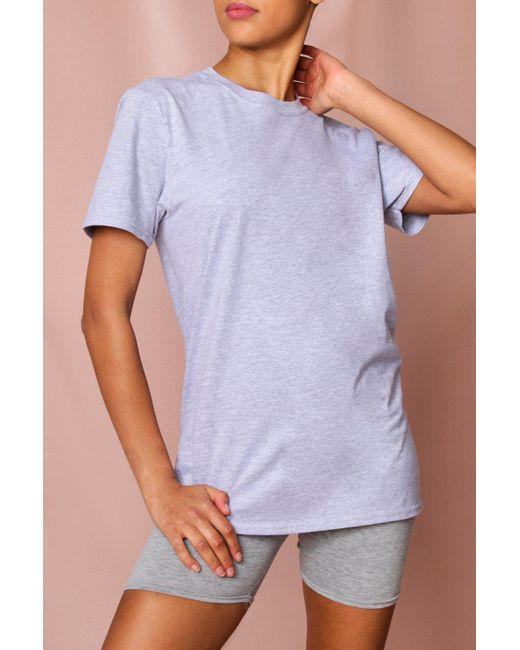 MissPap Gray Oversized T-shirt & Cycle Short Set