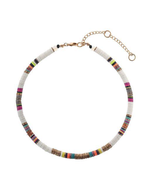 Miss Selfridge   Metallic Multi Coloured Necklace   Lyst
