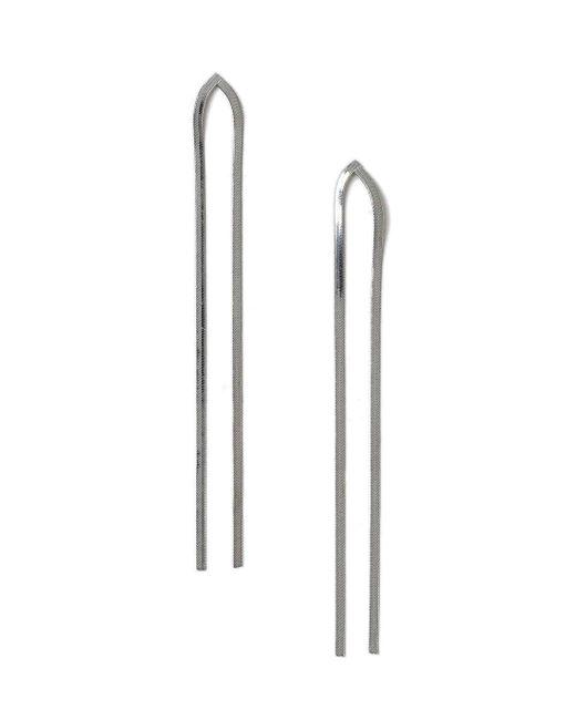 Miss Selfridge | Metallic Slinky Shoulder Duster Earrings | Lyst