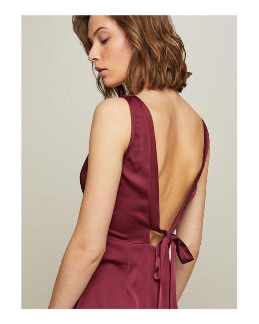 c3001a4fe3b604 ... Miss Selfridge - Red Burgundy Fishtail Prom Maxi Dress - Lyst ...