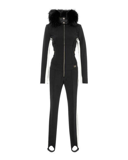 Bogner - Black Fur-trimmed Shell Ski Suit - Lyst