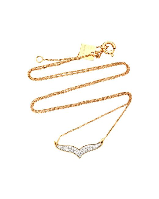 Ginette NY - Pink Wise Diamond And 18k Rose Gold Necklace - Lyst