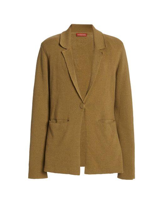 Altuzarra Green Heather Cashmere-cotton Knit Blazer
