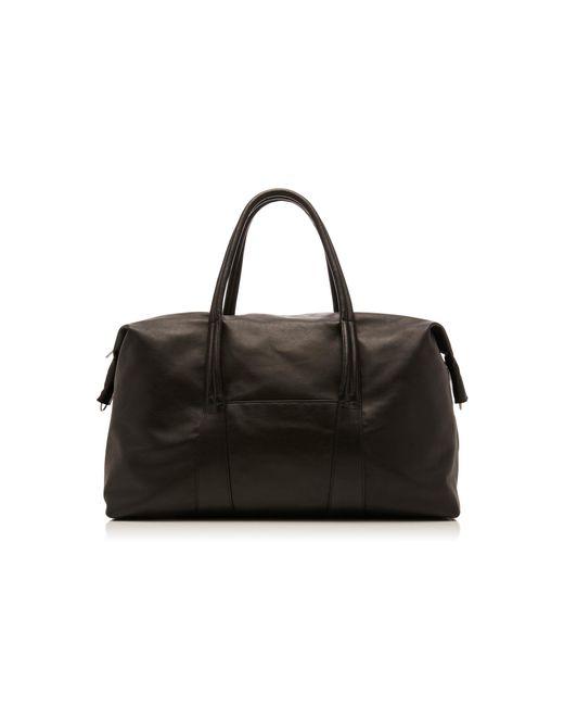 Maison Margiela - Black Large Leather Duffle Bag for Men - Lyst