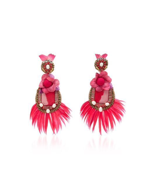 Ranjana Khan - Pink Feather Earrings - Lyst