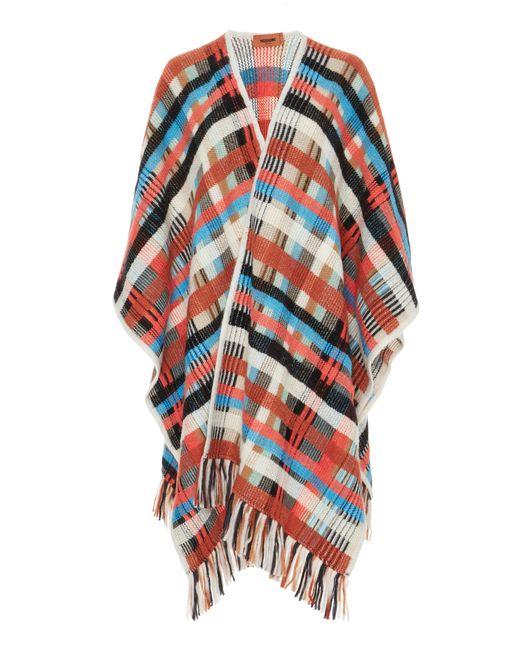 Missoni | Multicolor Plaid Wool And Alpaca-blend Cape | Lyst