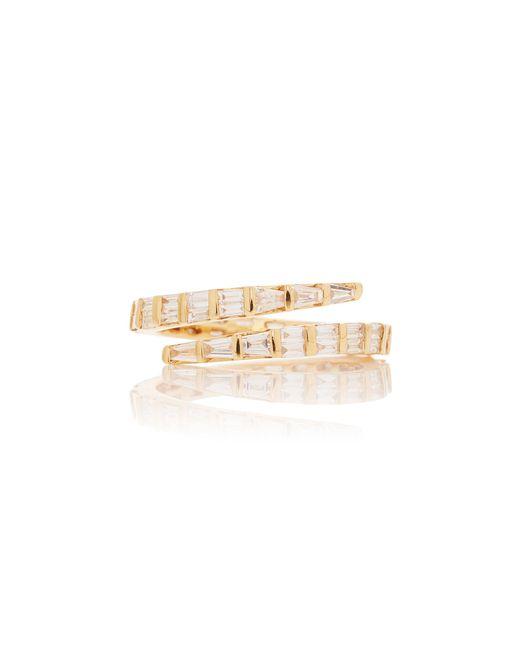 Anita Ko Metallic Two Row Baguette Diamond Coil Ring