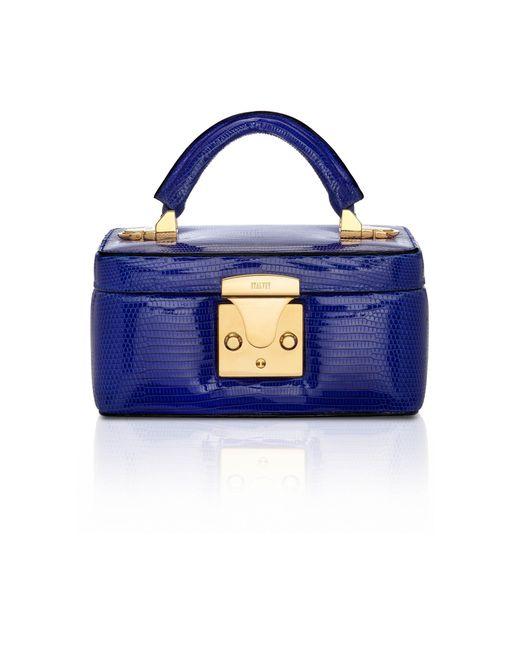Stalvey - Blue Mini Lizard Beauty Case - Lyst