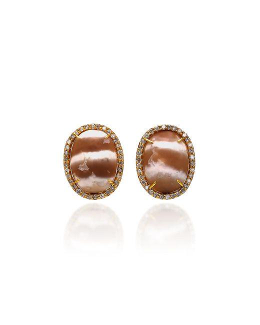 Kimberly Mcdonald - White 18k Gold, Diamond And Chalcedony Earrings - Lyst