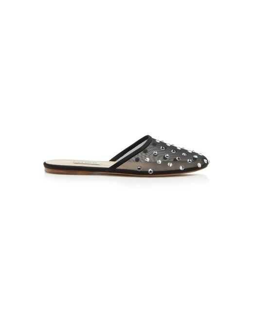ATTICO Gina embellished mesh slippers kKS0oV