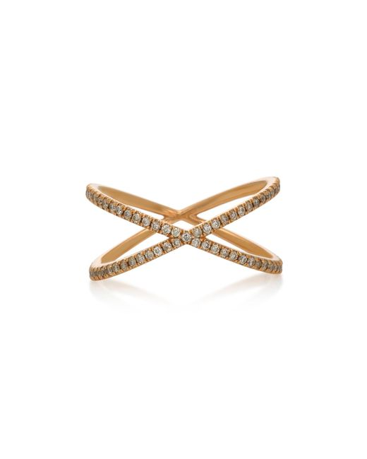 Eva Fehren - Metallic Fine Shorty 18k Rose Gold And Diamond Ring - Lyst