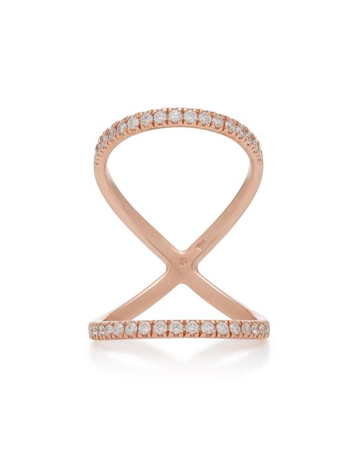 Carbon & Hyde - Metallic Olyumpia 14k Rose Gold Diamond Ring - Lyst