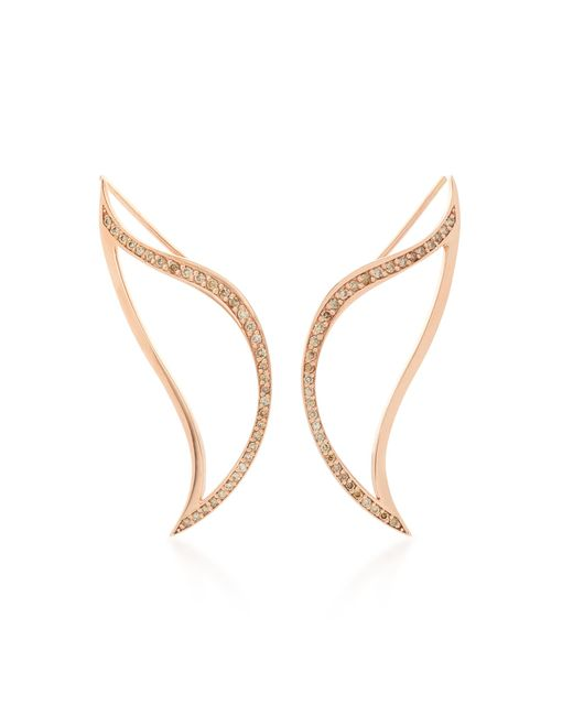 Bea Bongiasca | Metallic Heliconia Unique Crawler Leaf Earrings | Lyst