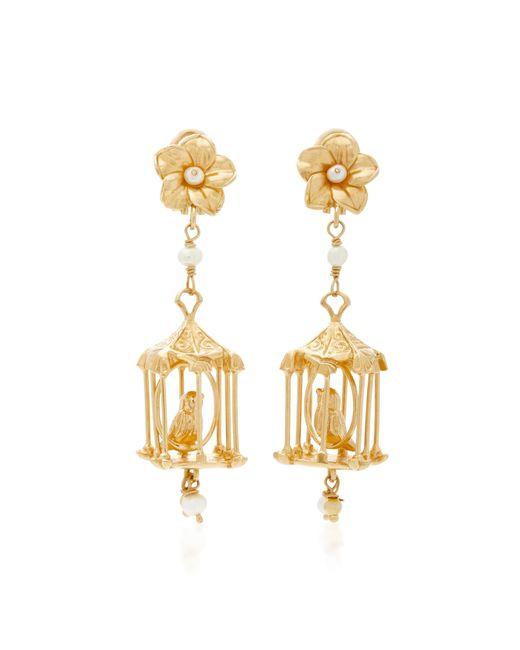 Of Rare Origin - Metallic Pagoda 18k Gold Vermeil And Pearl Earrings - Lyst