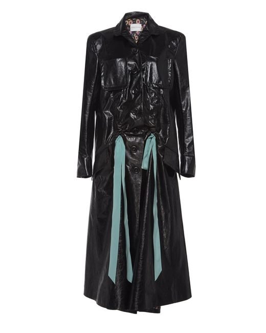 in Black Naper Lyst Coat Tailored Theyskens Leather Olivier x0z04qnZwY