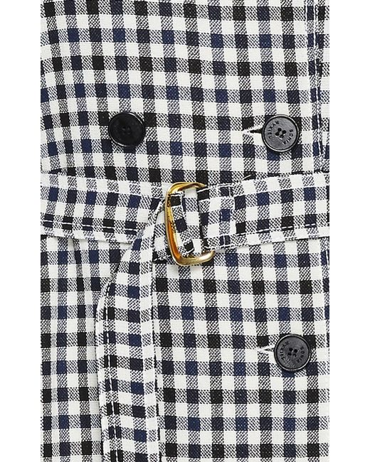 sonia rykiel plaid long trench coat in multicolor plaid lyst. Black Bedroom Furniture Sets. Home Design Ideas