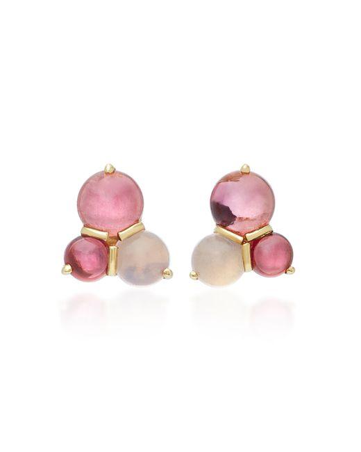 Daria de Koning | Red Dagny 18k Gold Multi-stone Cluster Stud Earrings | Lyst