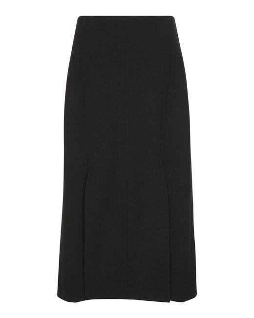 c03b462a1 ... Givenchy - Black Slit Wool-crepe Midi Wrap Skirt - Lyst ...