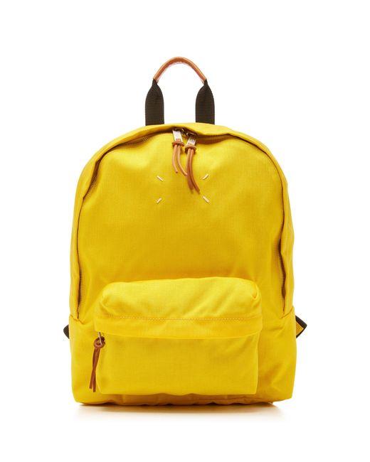 Maison Margiela - Yellow Zip-detailed Shell Backpack - Lyst