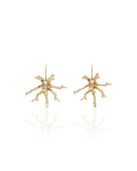 Annette Ferdinandsen Metallic Coral Stick Cluster 14k Gold Earrings