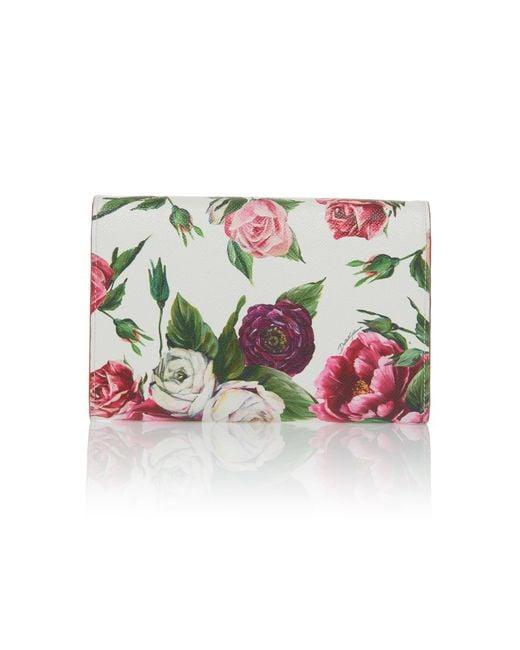 Roseto Floral-Print Leather Wallet Dolce & Gabbana nh1NH6k