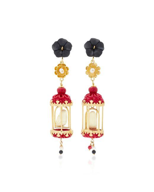 Of Rare Origin | Pink Aviary 18k Gold Multi-stone Earrings | Lyst