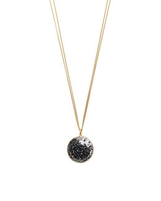 renee lewis black diamond shake necklace in black lyst