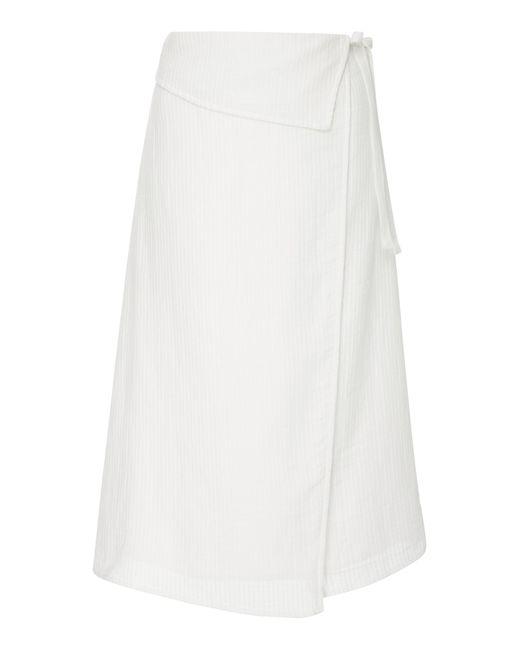 Suboo - White De Coup Folded Wrap Skirt - Lyst