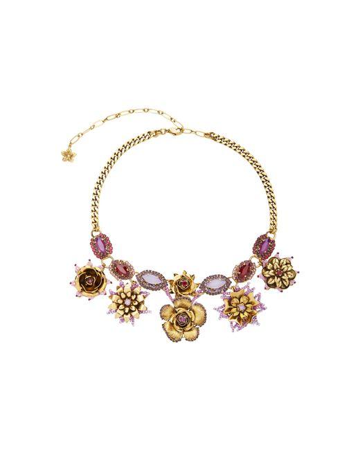 Erickson Beamon | Metallic 24k Gold-plated Vermeil Swarovski Crystal And Pearl Necklace | Lyst
