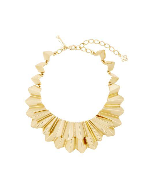 Oscar de la Renta | Metallic Gold-tone Brass Necklace | Lyst