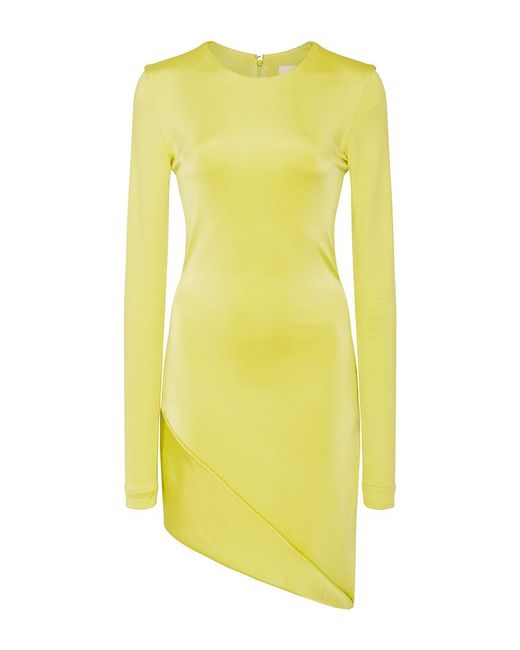 Cushnie et Ochs | Yellow Lola Asymmetrical Mini Dress | Lyst