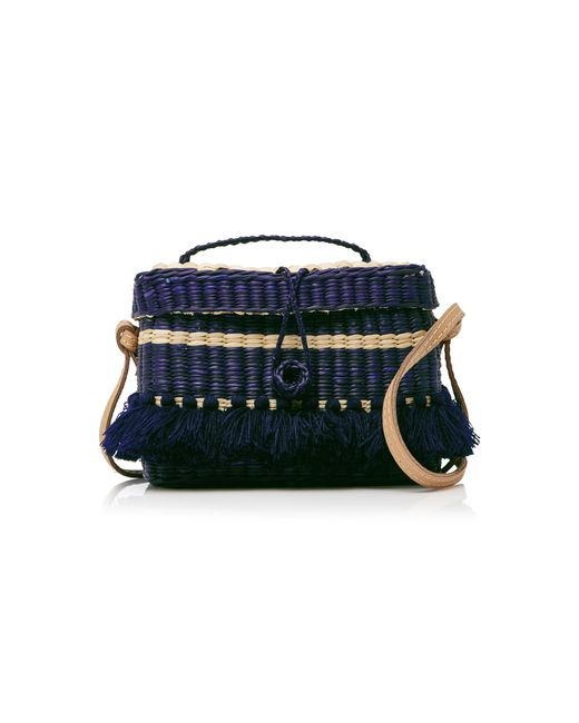 Nannacay | Blue Phiphi Striped Woven Straw Tote | Lyst