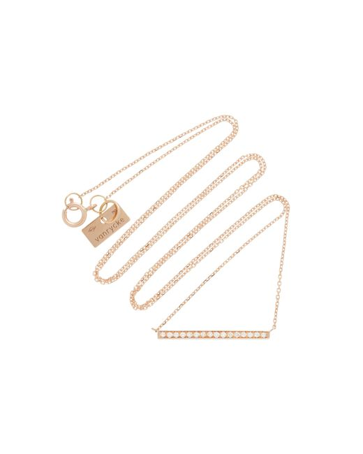 Vanrycke | Pink Medellin 18k Rose Gold Diamond Necklace | Lyst